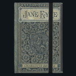 """Jane Eyre Charlotte Bronte Old Book Cover<br><div class=""""desc"""">Charlotte Bronte, 1816 - 1855, English novelist and poet from West Riding Yorkshire, England. She wrote one of the best known classics of English literature, Jane Eyre. This old book cover design is customizable for you to leave the authors name at the bottom of the cover or to replace it...</div>"""
