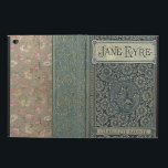 "Jane Eyre Charlotte Bronte Old Book Cover<br><div class=""desc"">Charlotte Bronte, 1816 - 1855, English novelist and poet from West Riding Yorkshire, England. She wrote one of the best known classics of English literature, Jane Eyre. This old book cover design is customizable for you to leave the authors name at the bottom of the cover or to replace it...</div>"