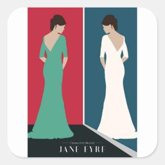 Jane Eyre Design Square Sticker