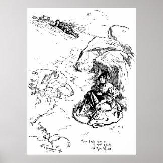 Jane Eyre Illustration Poster