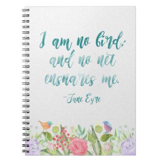Jane Eyre - no soy ningún pájaro - cuaderno