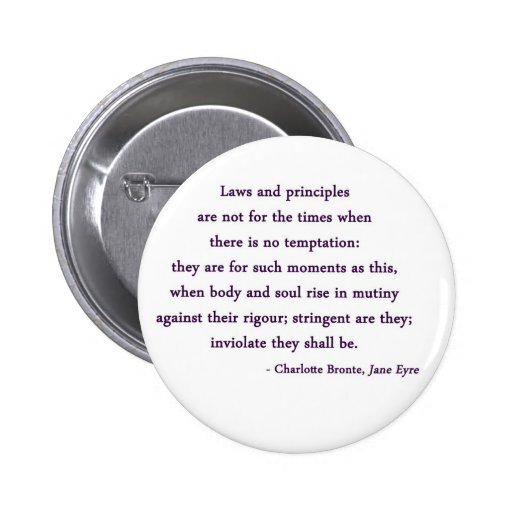 Jane Eyre Quote Button
