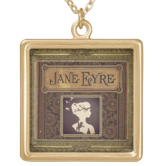 jane eyre silhouette gold-plated necklace