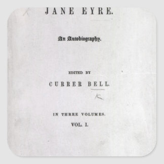 Jane Eyre' Square Stickers