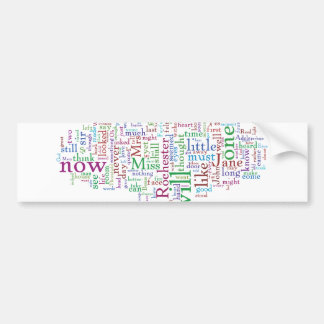 Jane Eyre Word Cloud Bumper Sticker