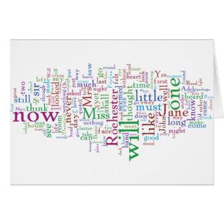 Jane Eyre Word Cloud Greeting Card