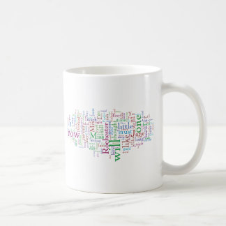 Jane Eyre Word Cloud Classic White Coffee Mug