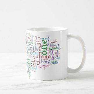 Jane Eyre Word Cloud Coffee Mug