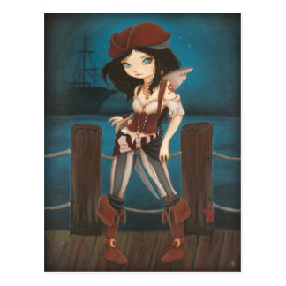 Jane - fantasy Fairy Pirate post card