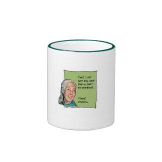 jane goodall on patience ringer mug