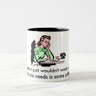 ¡Jane necesita un poco de café! taza