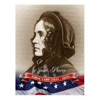Jane Pierce, primera señora de los E.E.U.U. Tarjeta Postal