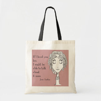 Jane quote tote canvas bag