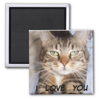 Jane says..i LOVE YOU 2 Inch Square Magnet