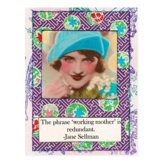 Jane Sellman Motherhood Quote Postcard