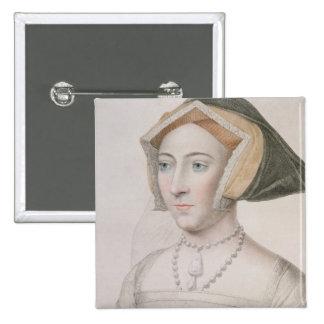 Jane Seymour (c.1509-37) engraved by Francesco Bar Pinback Button