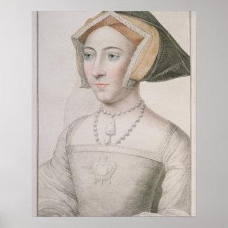 Jane Seymour (c.1509-37) engraved by Francesco Bar Poster