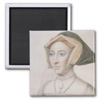 Jane Seymour (c.1509-37) grabada por la barra de F Imán Cuadrado