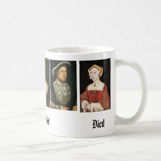 Jane Seymour, Catherine de Aragón, Ana Bolena,… Taza