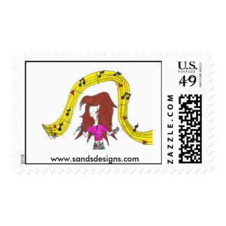 Janelle Postage Stamps
