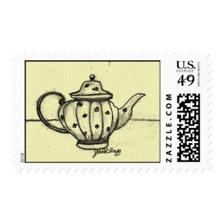 Janel's Antique Teapot Postage Stamp