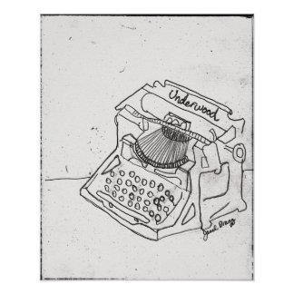 Janel's Antique Typewriter Poster