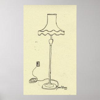 Janel's Floor Lamp Poster