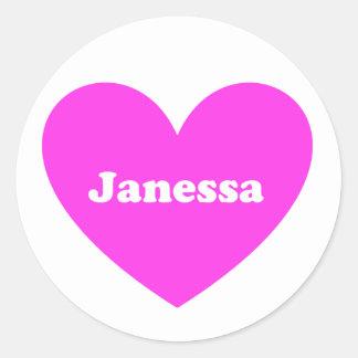 Janessa Classic Round Sticker