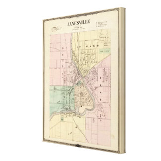 Janesville, county seat of Rock Co Canvas Print