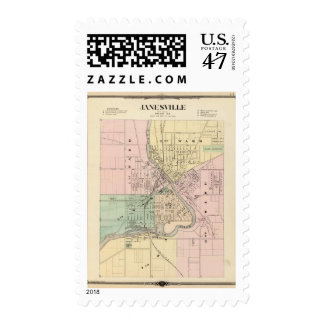 Janesville, county seat of Rock Co Postage