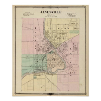 Janesville, county seat of Rock Co Poster