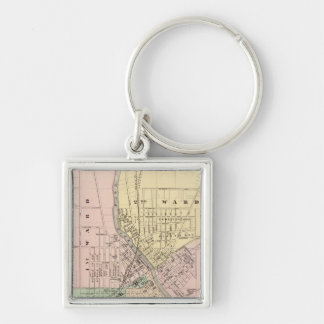 Janesville, county seat of Rock Co Silver-Colored Square Keychain