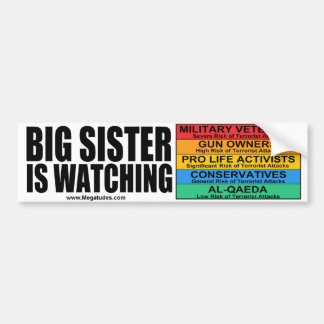 "Janet ""Big Sister"" Napolitano is Watching Bumper Sticker"