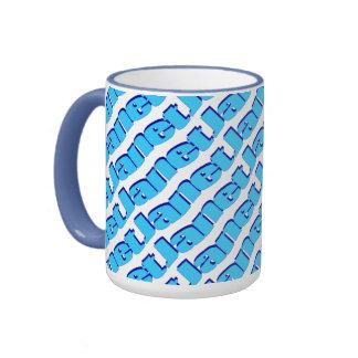 Janet Blue Style 15 oz Ringer Mug