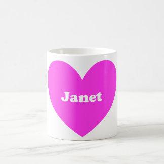 Janet Classic White Coffee Mug