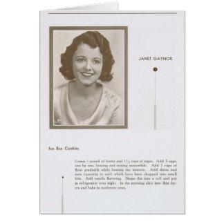Janet Gaynor Recipe Greeting Cards