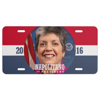 JANET NAPOLITANO 2016 LICENSE PLATE