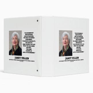 Janet Yellen Govt Institutions Teaching Inspire Binder