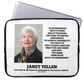 Janet Yellen Govt Institutions Teaching Inspire Laptop Sleeve