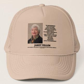 Janet Yellen Govt Institutions Teaching Inspire Trucker Hat