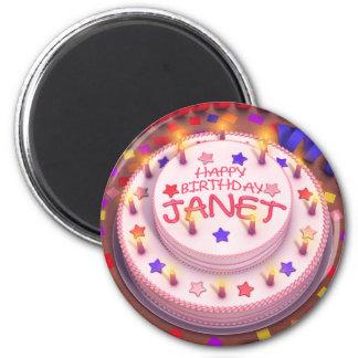 Janet's Birthday Cake Magnet