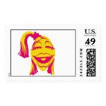 Janice Disney sonriente del Muppet Sello