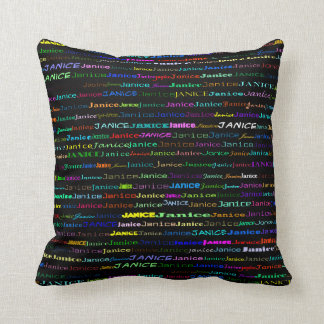 Janice Text Design I Throw Pillow