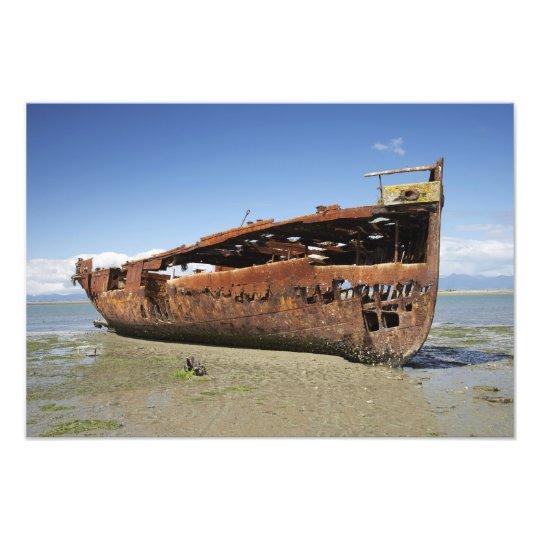 Janie Seddon Shipwreck, Motueka, Nelson Photo Print