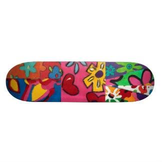 Janina's Floral Patchwork Skateboard Deck