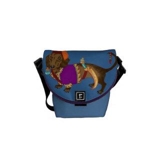 Janiserry Dachshund Messenger Bags