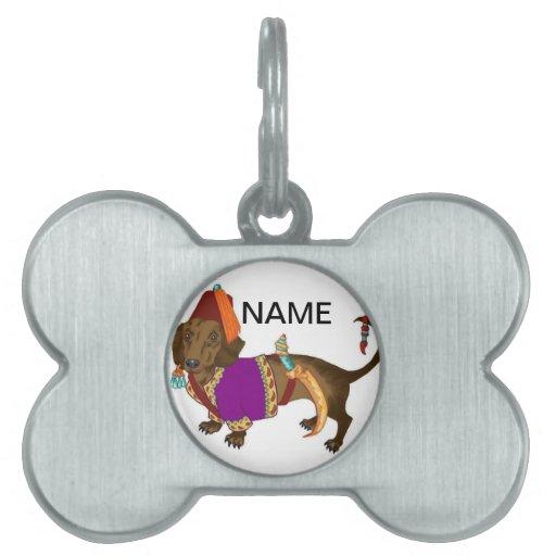 Janisery Daschund Placa De Nombre De Mascota