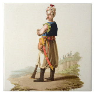 Janissary, from 'Costumes of the Various Nations', Ceramic Tile