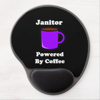 """""""Janitor"""" Powered by Coffee Gel Mouse Pad"""