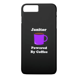 """Janitor"" Powered by Coffee iPhone 8 Plus/7 Plus Case"